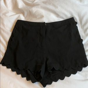 Lush Scalloped Trim Shorts